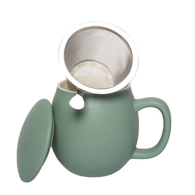 Theemok met filter Celadon Green
